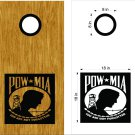 POW MIA Cornhole Board Decals Stickers Graphics Wraps Bean Bag Toss Baggo
