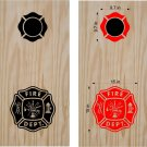 Firemen Firefighter Cornhole Board Decals Stickers Graphics Wraps Bean Bag Toss Baggo