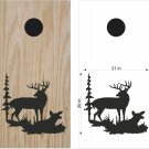 Deer Hunting Cornhole Board Decals Stickers Graphics Wraps Bean Bag Toss Baggo