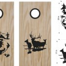 Bear Deer Hunting Cornhole Board Decals Stickers Graphics Wraps Bean Bag Toss Baggo