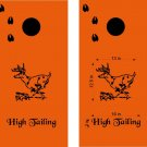 High Tailing It Deer Cornhole Board Decals Stickers Graphics Wraps Bean Bag Toss Baggo