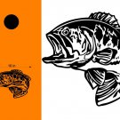 Bass Fishing Cornhole Board Decals Stickers Graphics Wraps Bean Bag Toss Baggo