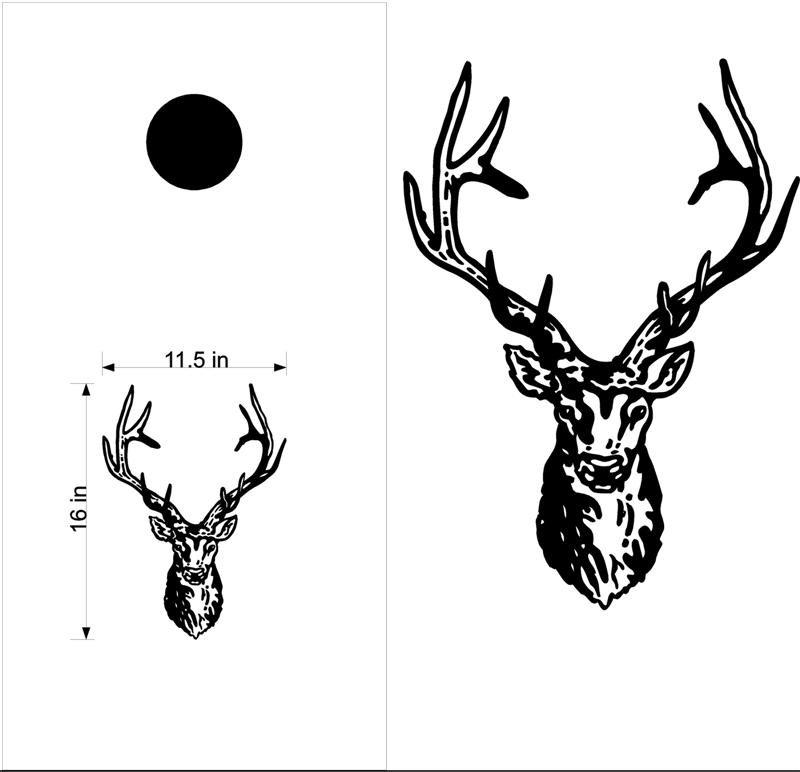 Buck Deer Hunting Cornhole Board Decals Stickers Graphics Wraps Bean Bag Toss Baggo