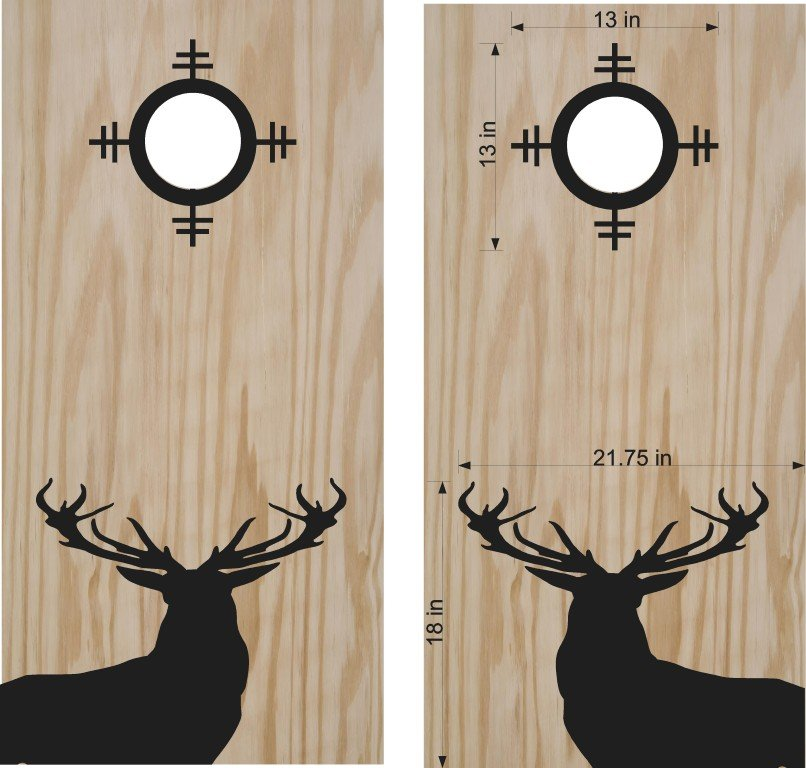 Deer Buck Hunting Scope Cornhole Board Decals Stickers Graphics Wraps Bean Bag Toss Baggo