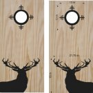 Deer Buck Hunting Scope Cornhole Board Decals Stickers Graphics Wraps Bean Bag Toss Baggo