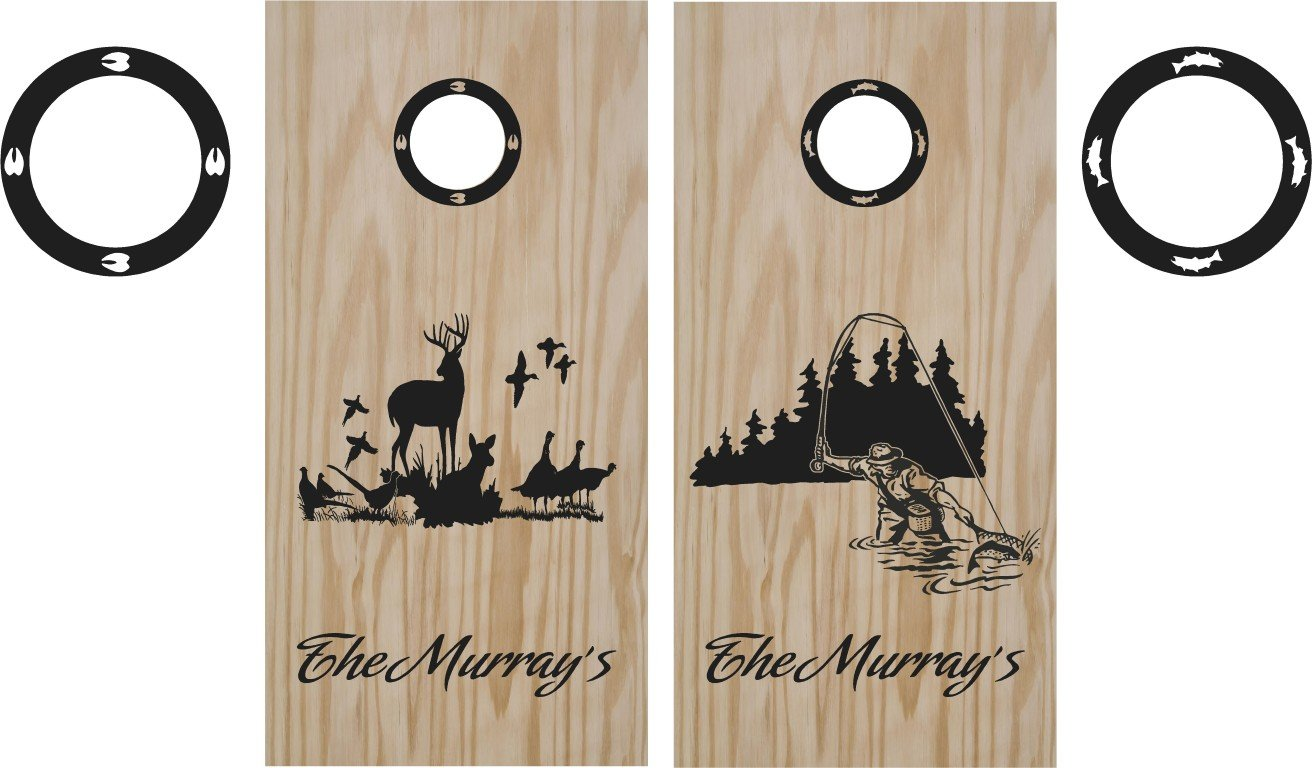 Deer Duck Hunting Cornhole Board Decals Stickers Graphics Wraps Bean Bag Toss Baggo