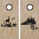 Duck Deer Hunting Cornhole Board Decals Stickers Graphics Wraps Bean Bag Toss Baggo