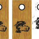 Trout Stream Fishing Cornhole Board Decals Stickers Graphics Wraps Bean Bag Toss Baggo