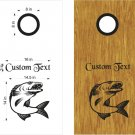Walleye Fishing Cornhole Board Decals Stickers Graphics Wraps Bean Bag Toss Baggo