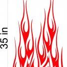 Fire Flame Stripe Car Truck Hood Decal Graphics Racing Trailer Vinyl Sticker Graphics 02