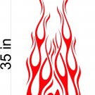 Fire Flame Stripe Car Truck Hood Decal Graphics Racing Trailer Vinyl Sticker Graphics 09