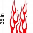 Fire Flame Stripe Car Truck Hood Decal Graphics Racing Trailer Vinyl Sticker Graphics 12