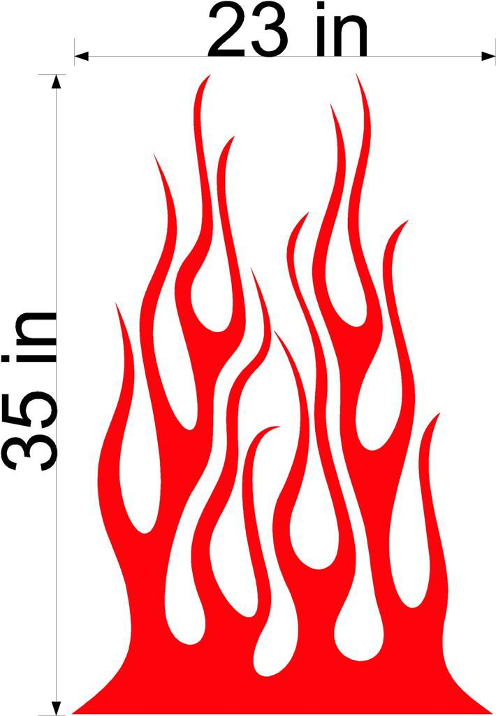 Fire Flame Stripe Car Truck Hood Decal Graphics Racing Trailer Vinyl Sticker Graphics 13
