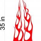 Fire Flame Stripe Car Truck Hood Decal Graphics Racing Trailer Vinyl Sticker Graphics 22
