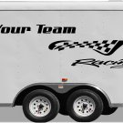 Your Team Name Racing Enclosed Trailer Vinyl Stickers Decals Graphics FREE SHIPPING GK102