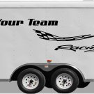 Your Team Name Racing Enclosed Trailer Vinyl Stickers Decals Graphics FREE SHIPPING GK106