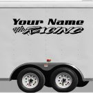 Your Team Name Racing Enclosed Trailer Vinyl Stickers Decals Graphics FREE SHIPPING B032