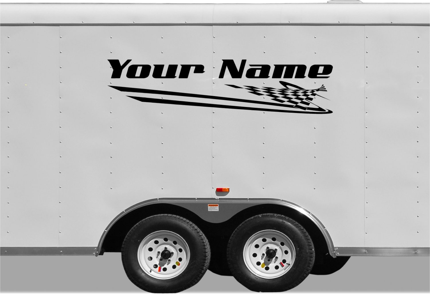 Your Team Name Racing Enclosed Trailer Vinyl Stickers Decals Graphics FREE SHIPPING B033