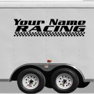 Your Team Name Racing Enclosed Trailer Vinyl Stickers Decals Graphics FREE SHIPPING B034