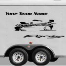 Your Team Name Racing Enclosed Trailer Vinyl Stickers Decals Graphics FREE SHIPPING YT05