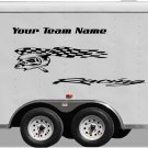 Your Team Name Racing Enclosed Trailer Vinyl Stickers Decals Graphics FREE SHIPPING YT02