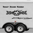 Your Team Name Racing Enclosed Trailer Vinyl Stickers Decals Graphics FREE SHIPPING YT50
