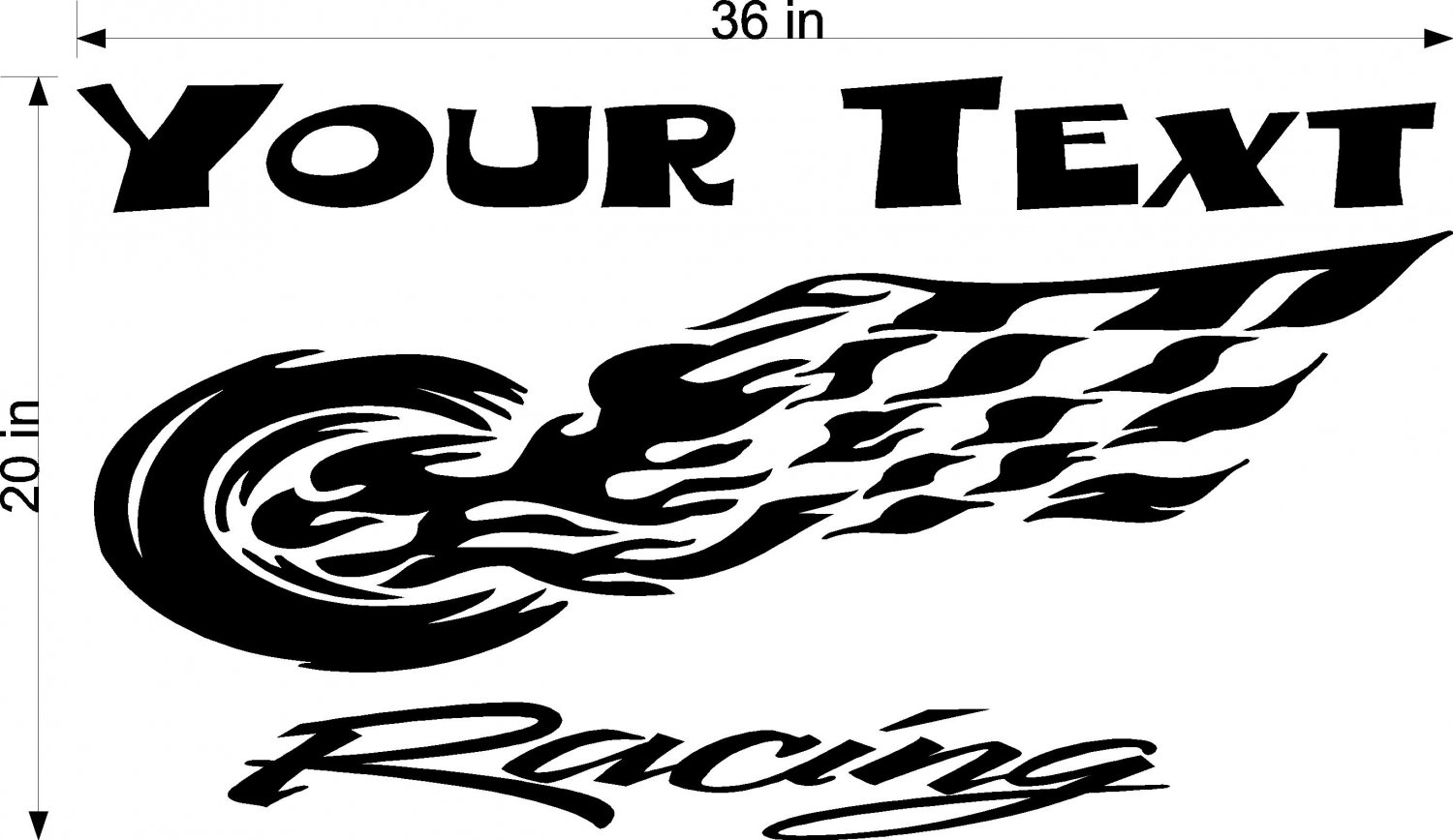 Your Team Name Racing Enclosed Trailer Vinyl Stickers Decals Graphics FREE SHIPPING YT55