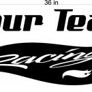 Your Team Name Racing Enclosed Trailer Vinyl Stickers Decals Graphics FREE SHIPPING YT09