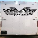 Your Team Name Racing Enclosed Trailer Vinyl Stickers Decals Graphics FREE SHIPPING YT09b