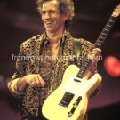 Rolling Stones Guitarist Keith Richards 8x10 Color Concert Photo