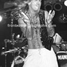 """Great White Singer Jack Russell 8""""x10"""" BW Concert Photo"""