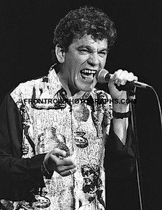 "Nazareth Singer Dan McCafferty 8""x10"" BW Concert Photo"