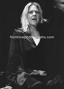 """Musician Diana Krall 8""""x10"""" BW Concert Photo"""