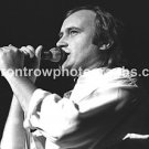 "Genesis Vocalist Phil Collins 8""x10"" BW Concert Photo"