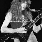 "Megadeth Guitarist Dave Mustaine 8""x10"" BW Concert Photo"