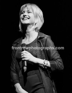 "Singer Olivia Newton John 8""x10"" BW Concert Photo"
