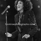 "Singer Whitney Houston 8x10 ""Early Day"" BW Concert Photo"
