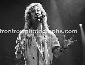 "Kansas Singer Steve Walsh 8""x10"" BW Concert Photo"