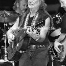 "Musician Willie Nelson 8""x10"" BW Concert Photo"