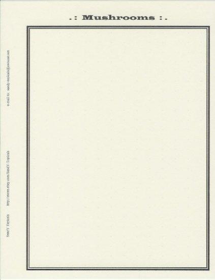 Topical Album Page   Mushrooms    5-pk