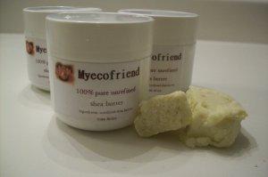 Unrefined Shea Butter from Ghana- Vanilla Mint (2oz)