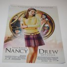 Magazine Advertisement Ad - Nancy Drew Film Poster, CosmoGirl