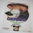 Magazine Advertisement Ad - Genius Disney Channel Original Movie Poster