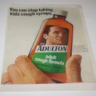Vintage LIFE Magazine Advertisement Ad - Adulton Cough Syrup, 1960s