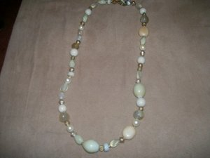 Cream Bead and Pearl Necklace