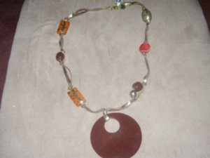 Cherry Wood Necklace