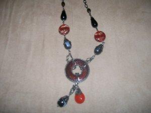 Smooth Circular stone Pendant Necklace
