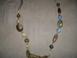 Multi Bead and stone Necklace