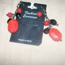Red and Black Charm Earrings