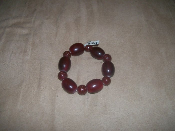 Dark red wood bead Bracelet